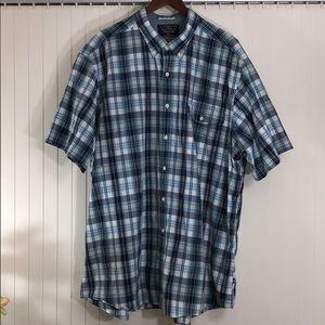NAUTICA Plaid Button Down Breast Pocket Shirt 3X